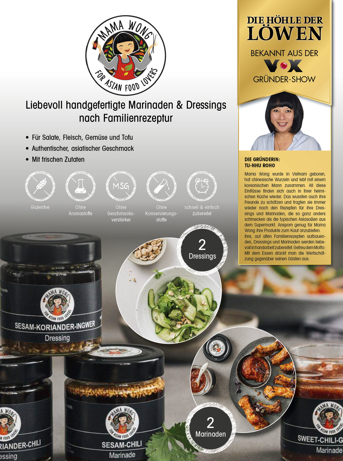 Produktblatt MAMA WONG FOR ASIAN FOOD LOVERS